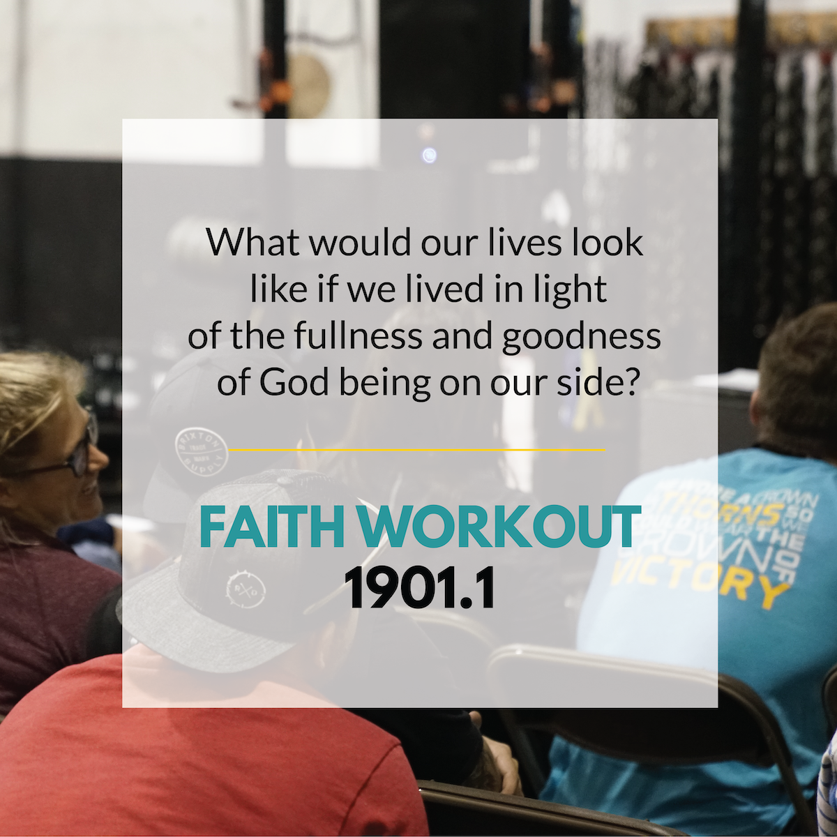 Faith Workout 1901.1 | How Are You Making Plans?