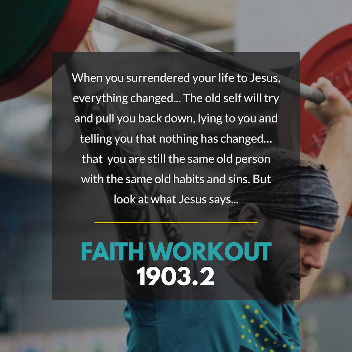FAITH WORKOUT 1903.2 | Change Your Clothes